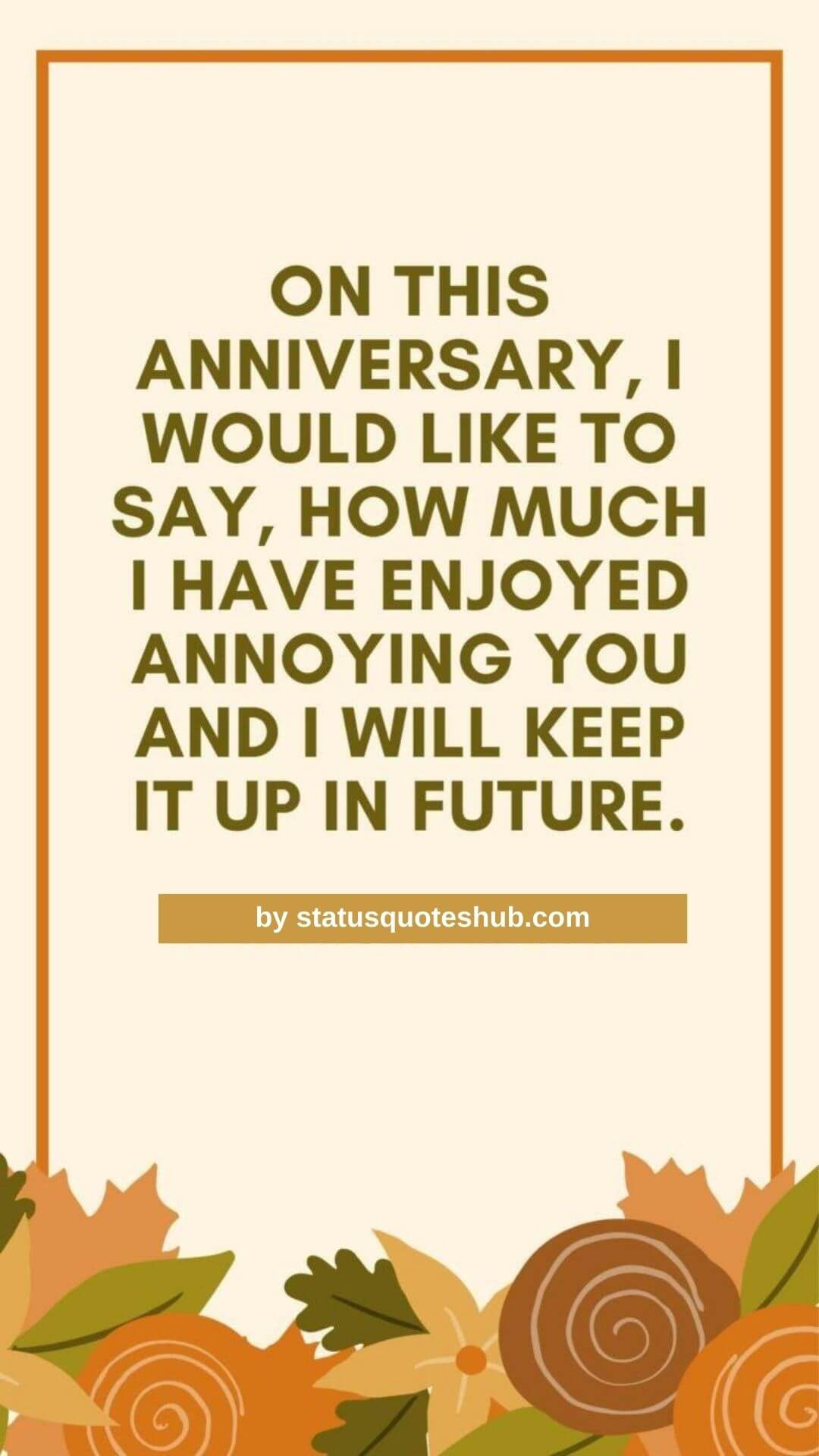 Funny Engagement anniversary status for status