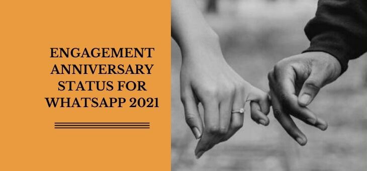 engagement anniversary status for whatsapp