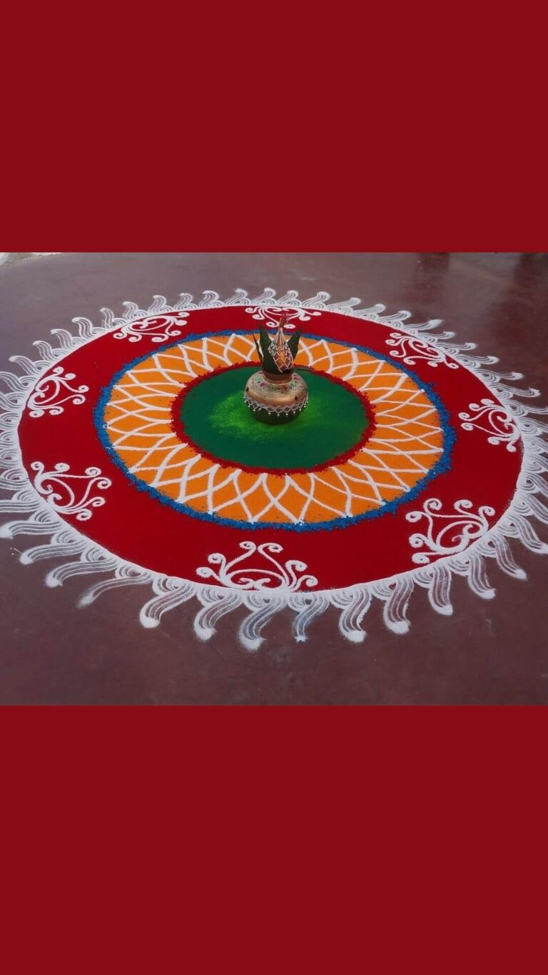 Fine colors rangoli designs for diwali