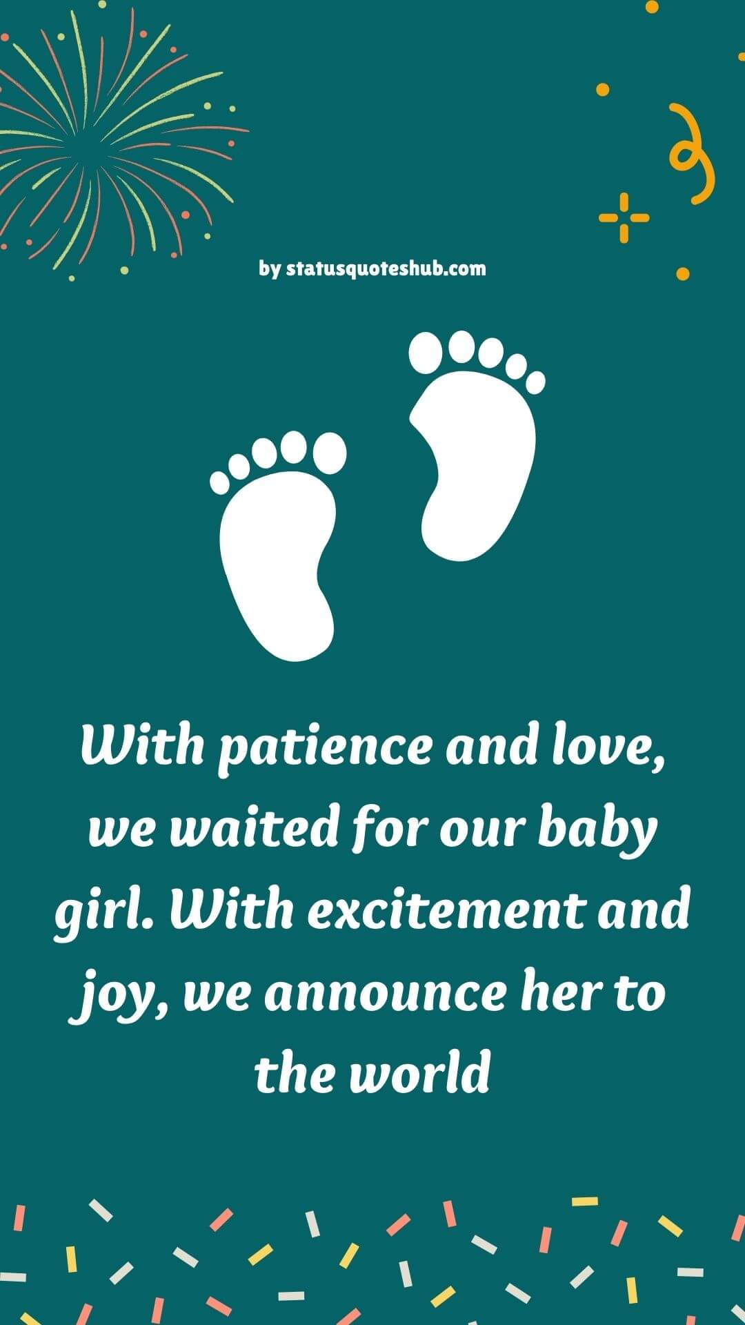 how do you announce a new born baby girl
