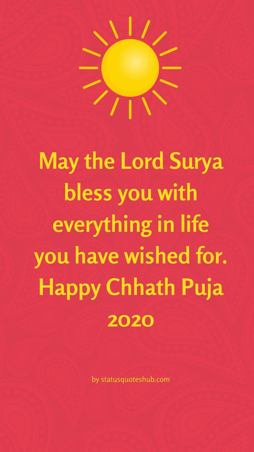 Chhath puja wishes and greetings