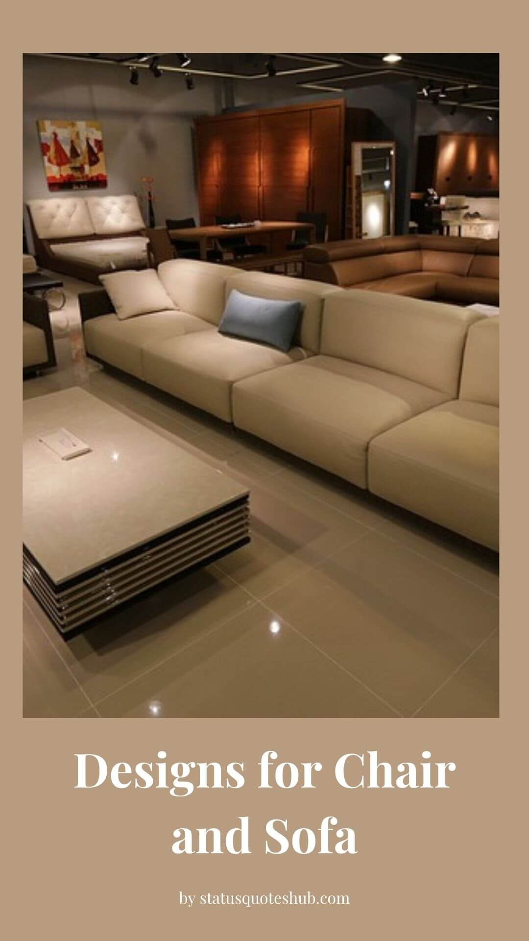 Designs for Chair and Sofa
