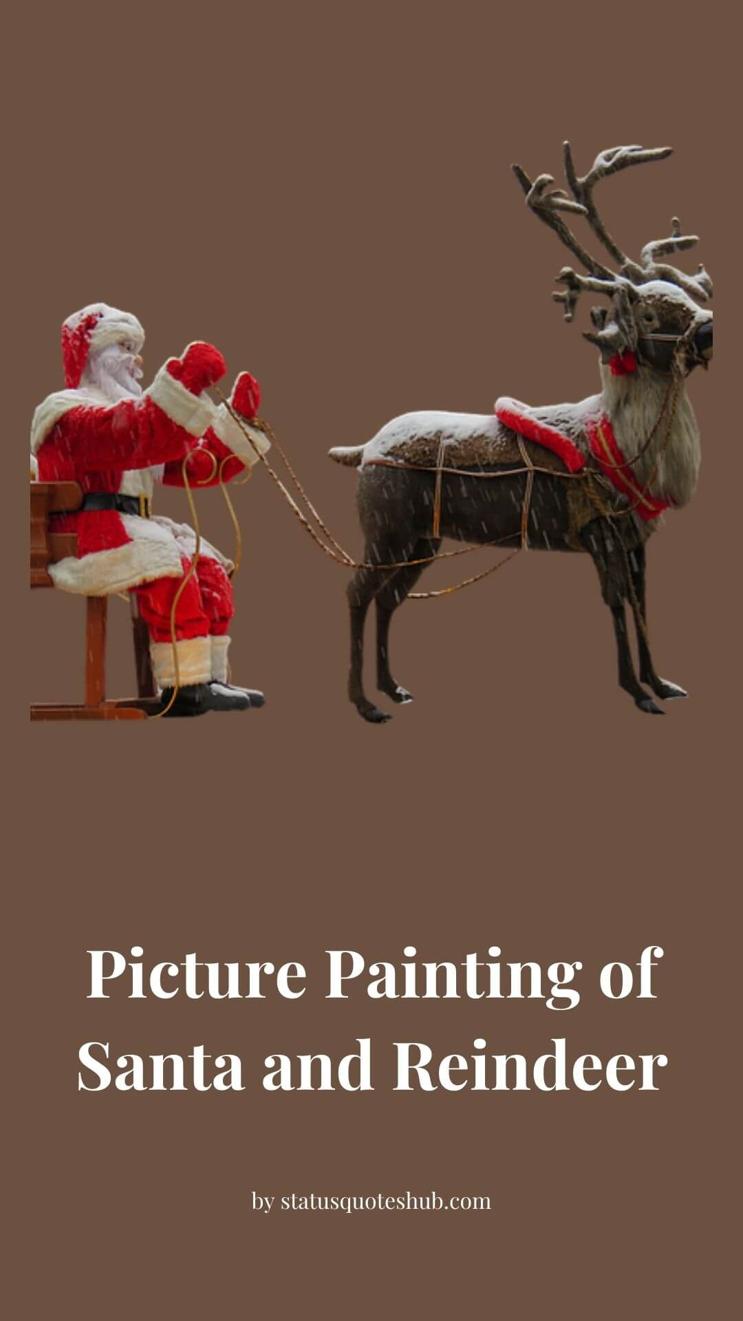 Picture Painting of Santa and Reindeer