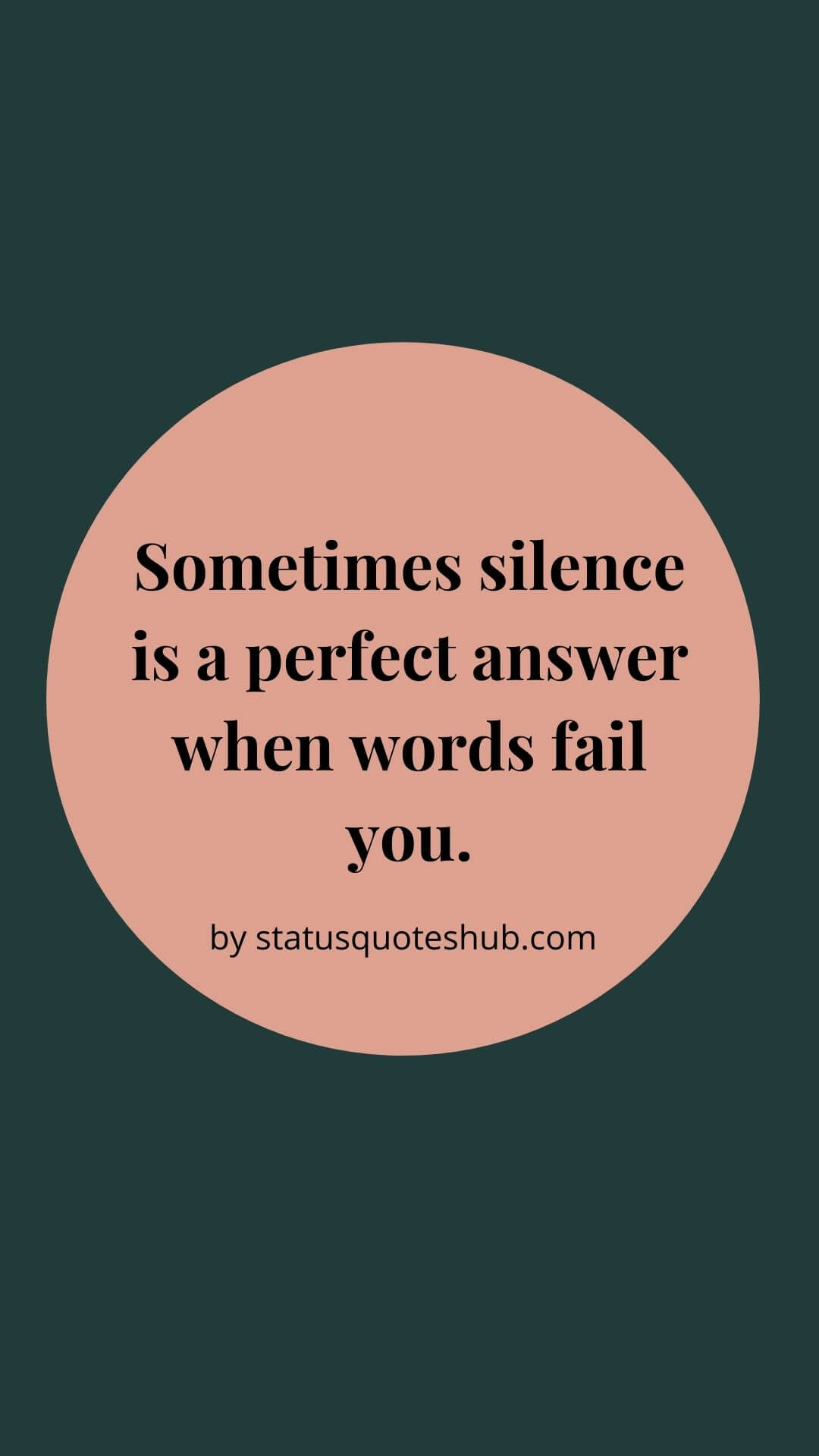 Silence quotes in a relationship