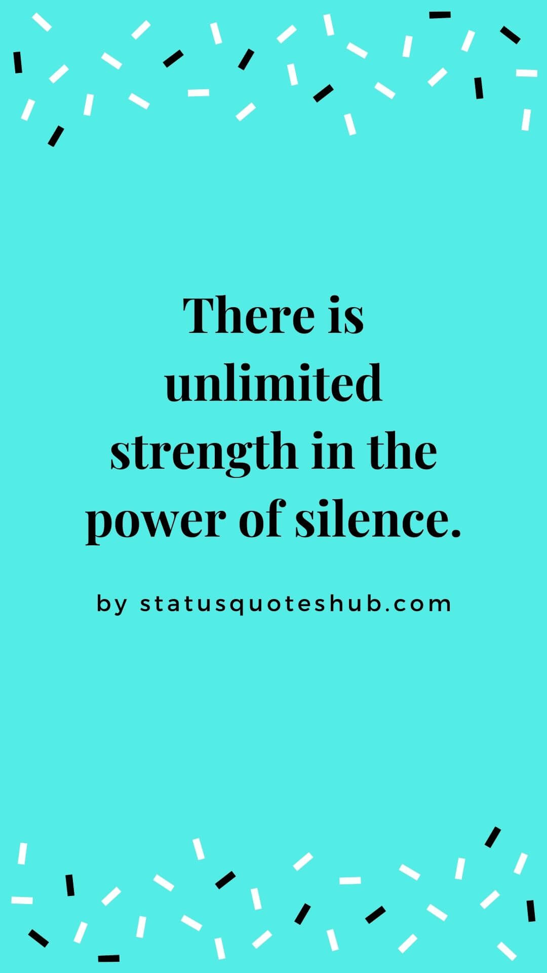 Silence status and quotes in relationship