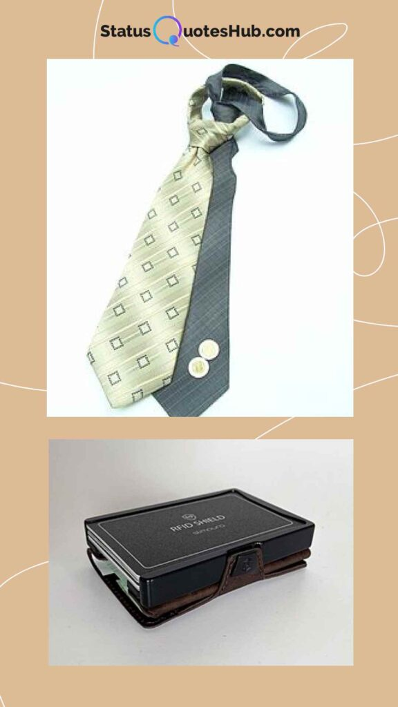 kit of wallet and necktie