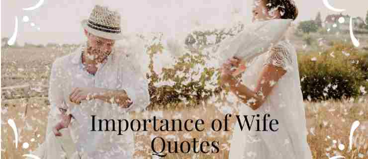 importance of wife quotes