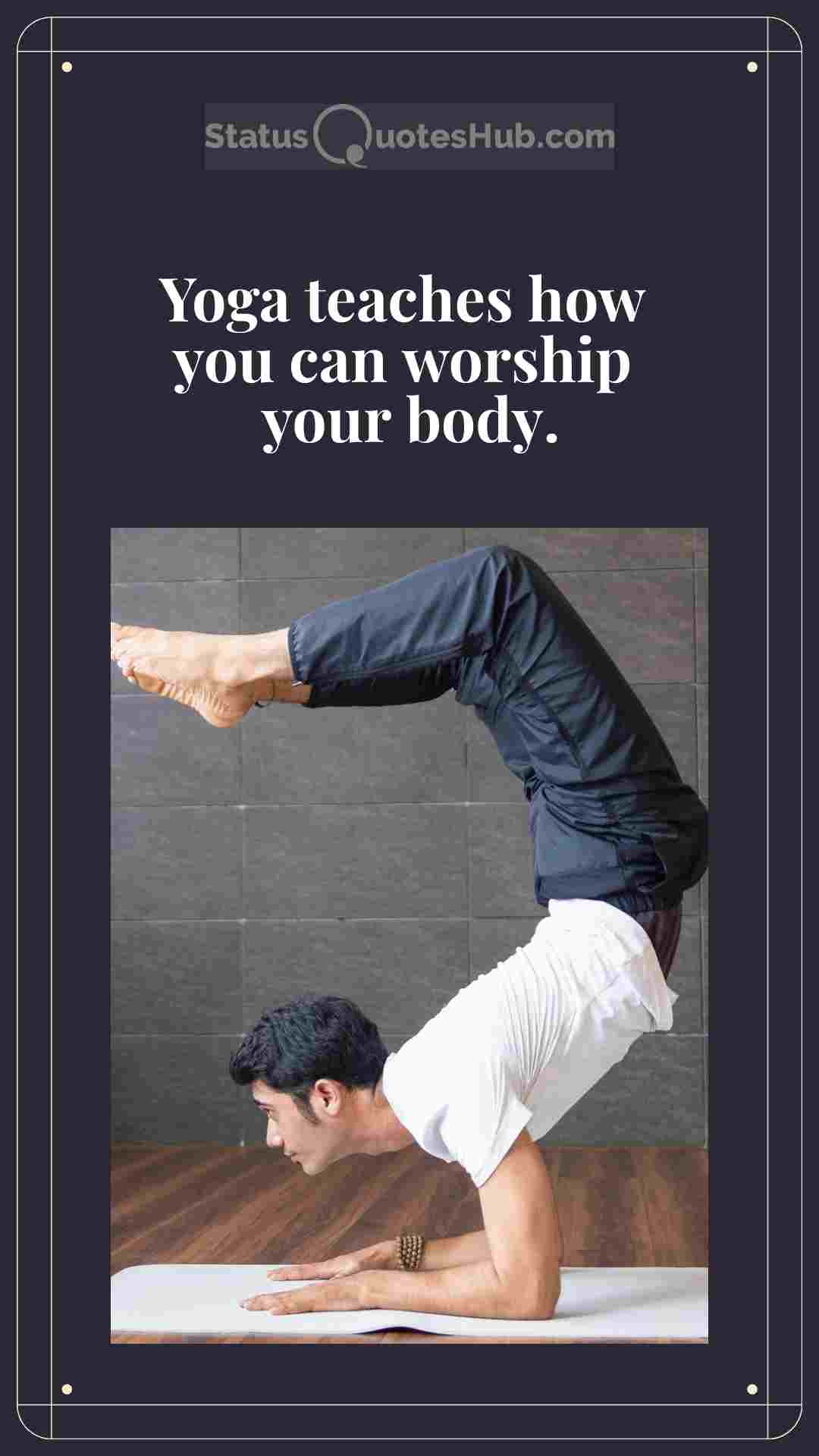 yoga status and quotes for instagram