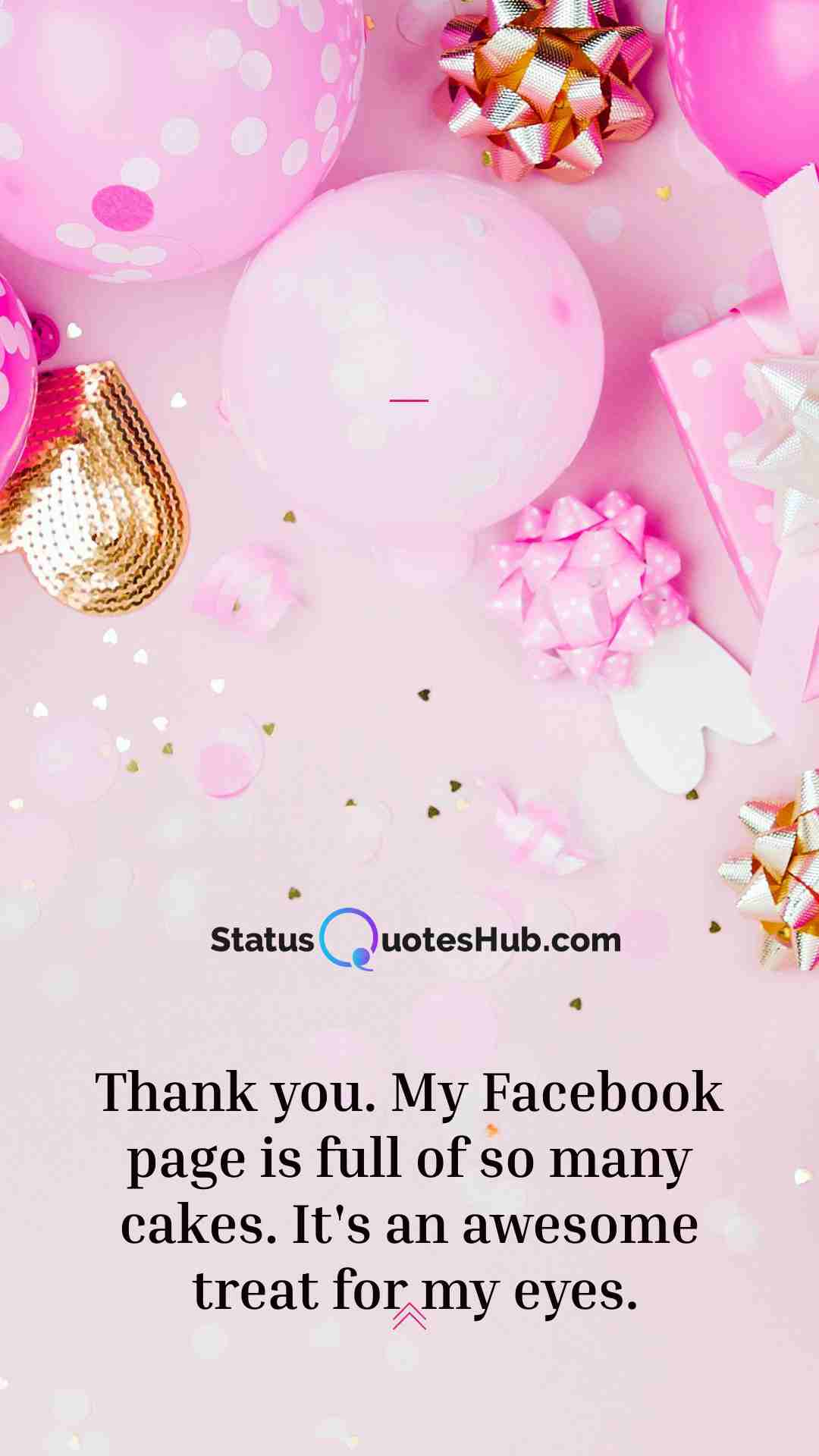 Thank you birthday wishes on Facebook